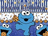 Cookie Monster Backdrop for Birthday Party Birthday Banner Cotton, Children Baby...