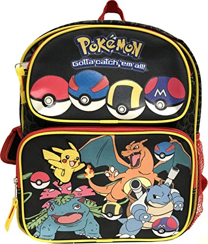 New Nintendo Pokemon Go Pikachu & Friends Boys 16' School Backpack