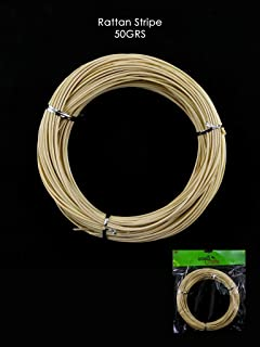 DIY Round Reed for Basketry and Wicker Repair, Rattan Stripe Ideal for Craft Project (Natural)