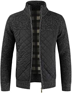Mens Knitted Cardigan Sweater Chunky Knitwear Jumper Full Zip Autumn Winter Coat