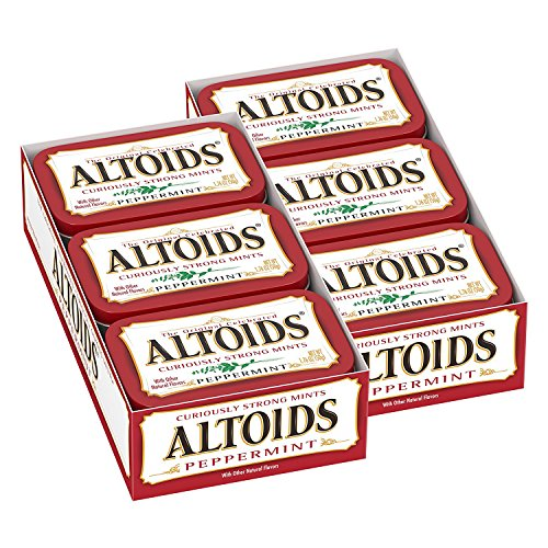 Altoids Classic Peppermint Breath Mints 176Ounce Tin Pack of 12