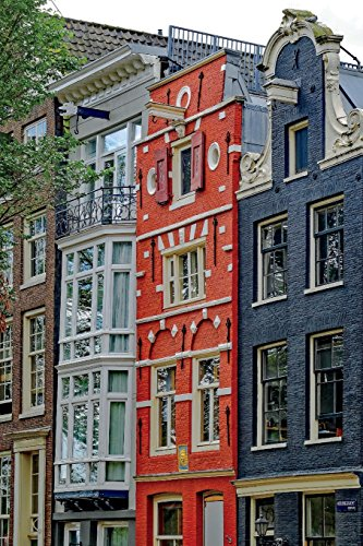Houses in Amsterdam Holland/Netherlands Journal: 150 page lined notebook/diary