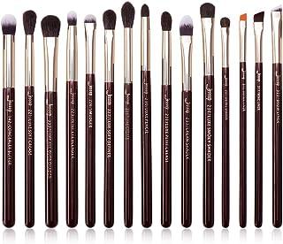 Jessup Professional Natural-Synthetic Eye Makeup Brushes Set 15pcs for Eyeshadow Blending Concealer Eyeliner Eyebrow, Zinf...
