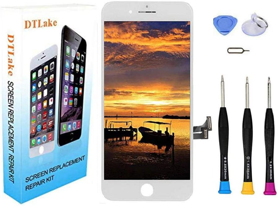 Premium Screen Replacement Compatible iPhone7 4.7inch(Model A1660, A1778, A1779), LCD Complete Repair Kits, LCD Touch Digitizer Display Glass Assembly with Tools, Instruction (White)