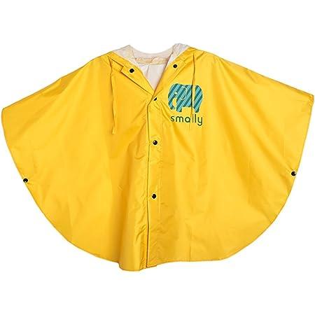 GudeHome Unisexo niño Impermeable Niñas Niños con capucha impermeable de la lluvia del poncho, 80-100cm Amarillo