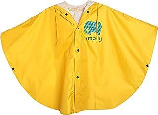 comprar comparacion GudeHome Unisexo niño Impermeable Niñas Niños con capucha impermeable de la lluvia del poncho, 100-120cm Amarillo