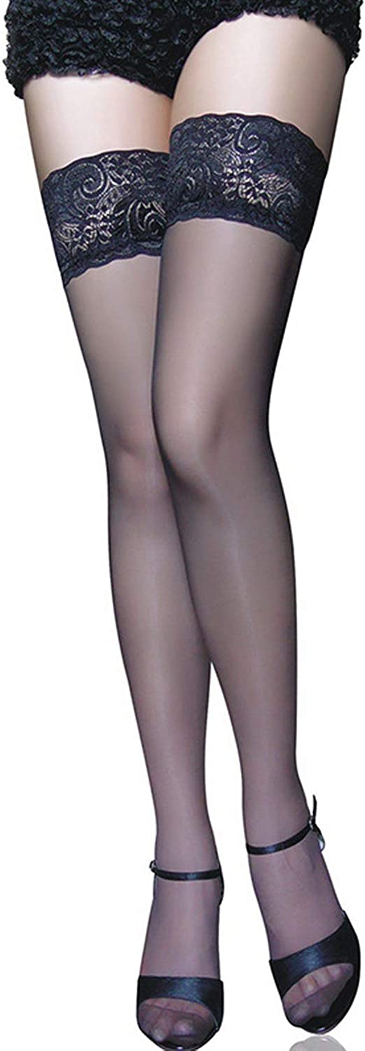 Thigh High Stockings shipfree Sheer Lace 67% OFF of fixed price Silicone Tights Up Stay Hosiery