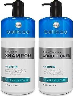شامپو و تهویه بیوتین برای رشد مو | درمان شامپو ضد ریزش مو ضخیم تر | شامپو و تهویه دهنده برای رشد موهای روغنی و رنگی