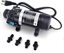 BACOENG - AC 115V 100PSI 110GPH - High Pressure Water Diaphragm Pump, Misting Booster Pump Sprayer for Caravan/RV/Boat/Marine