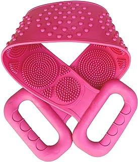 Carrfan- Silicone Back Scrubber, Bath Shower Silicone Body Massage Brush Silicone Bath Towel Exfoliating Body Brush Belt, ...