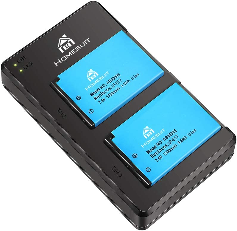 Homesuit LP E17 Battery 2-Pack and 35% OFF for Kit USB Max 67% OFF Dual Cano Charger