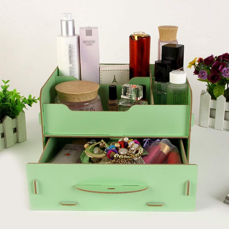 Xasclnis Bürobedarf aus Holz Desktop Aufbewahrungsbox Kosmetik Kosmetik Kosmetik Stationery Organizer (Farbe   Grün) B07MP78NQG | Niedriger Preis  2c92ff