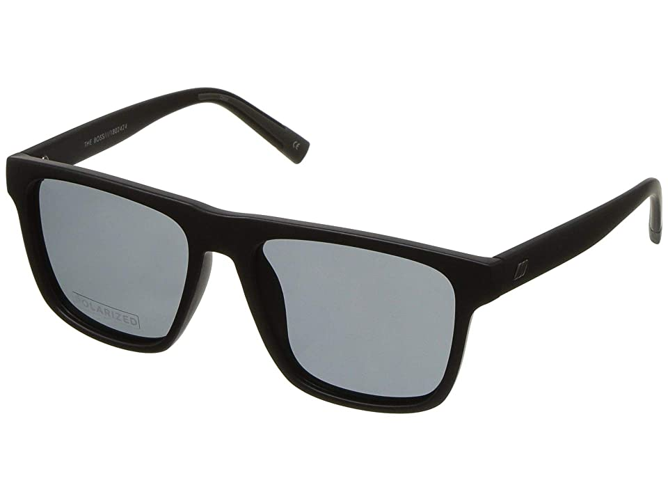 Le Specs The Boss (Matte Black Polarized) Fashion Sunglasses