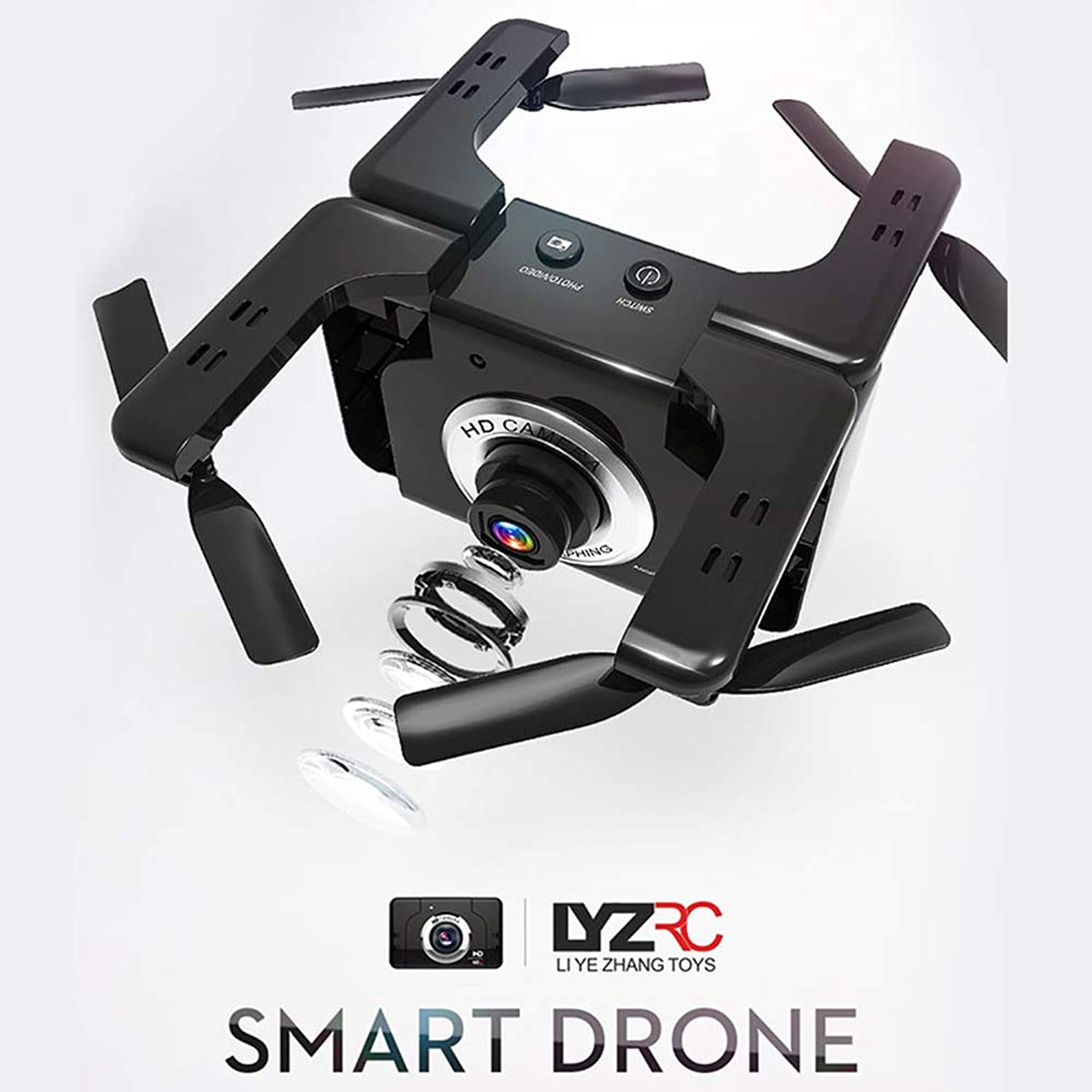 STAY TRULY Remote control Drone with Quadcopter, HD Camera RC RTF 4 Channel 2.4GHz 6Gyro with Altitude Hold Function, One Key Return Home and Headless Mode