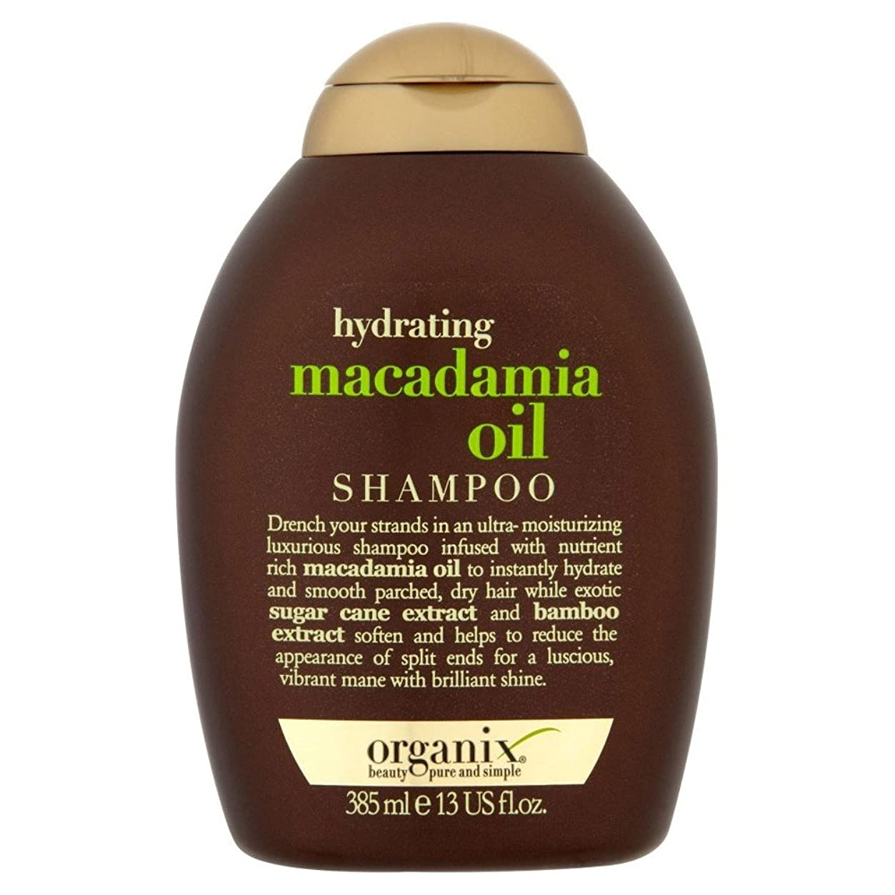 つなぐアルファベットマッシュOrganix Hydrating Macadamia Oil Shampoo (385ml) Organix水和マカダミアオイルシャンプー( 385ミリリットル) [並行輸入品]