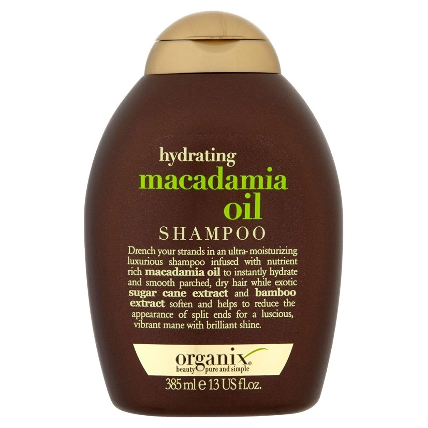 人質勇敢な競合他社選手Organix Hydrating Macadamia Oil Shampoo (385ml) Organix水和マカダミアオイルシャンプー( 385ミリリットル) [並行輸入品]