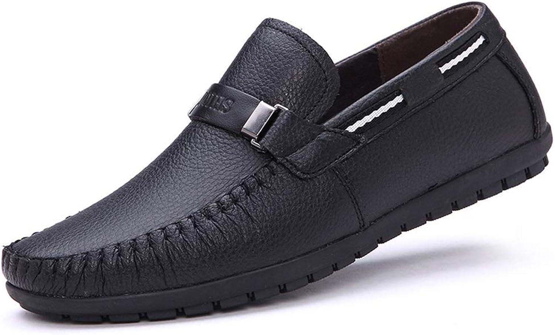 Skor på Buckle Boat skor for Mans Mans Mans Soft Sole Non Slip Casual Smart Driving skor (färg  svart, Storlek  CA 9)  skydd efter försäljning