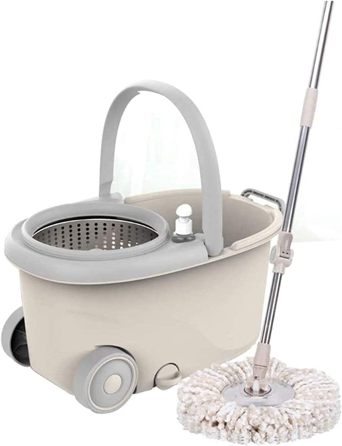 shipfree Gifts ZXCVBNN Rotary Mop with Bucket Household Wood Hands-Free Washing