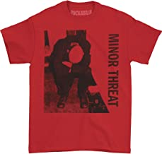 Minor Threat Men's LP T-shirt Red