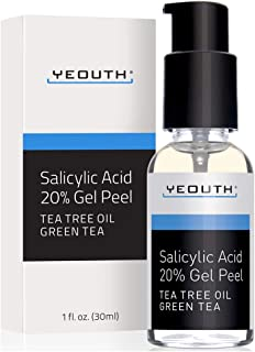 Salicylic Acid 20% Professional Chemical Gel Peel for Skin with Tea Tree, Green Tea, Acne Scars, Acne Treatment, Breakouts, Whiteheads, Blackheads, Pore Size, Wrinkles, Anti-Aging Benefits