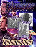 Avengers Endgame Dots Lines Spirals Coloring Book: Avengers Endgame Anxiety Activity Spirals-Dots-Diagonal Books For Kids And Adults