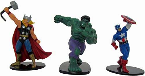 Marvel Avengers Thor, Hulk et Captain America Lot de 3Deluxe 10,2cm Figure Lot