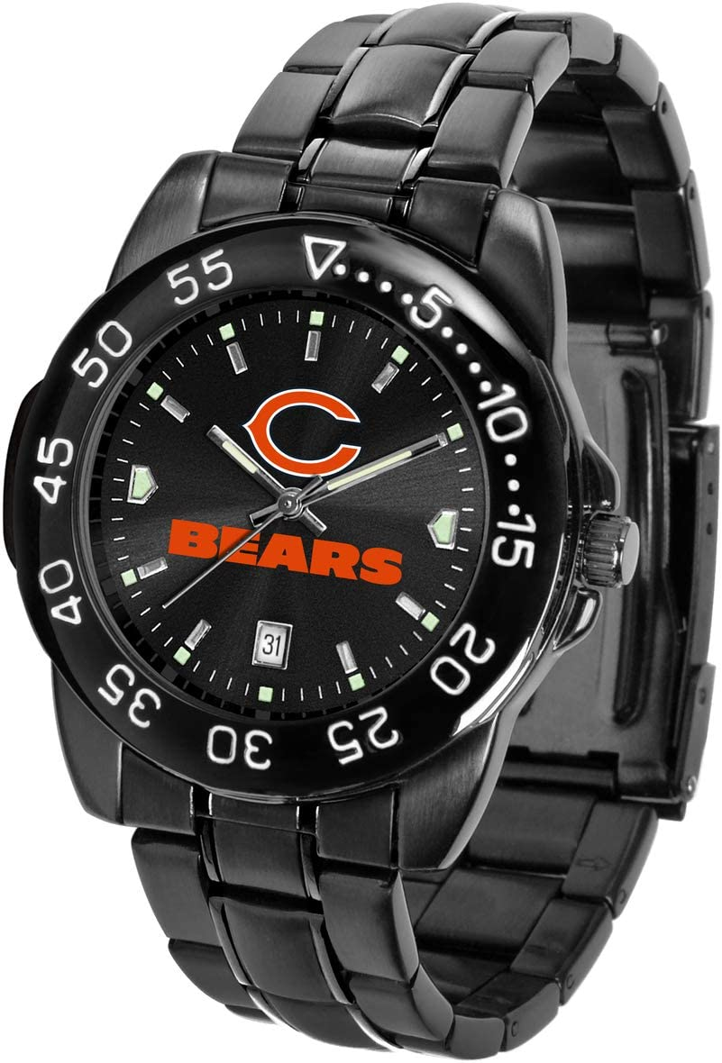NEW before selling ☆ Game Time NFL latest Mens FantomWrist One Black Size AnoChrome Watch