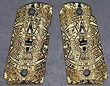 DURAGRIPS - Grips for Kimber Micro Carry 9mm 9 - Aztec Calendar (Black/Gold)