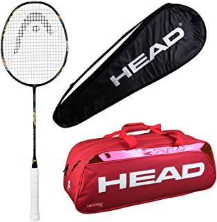 HEAD Head Airflow 5000 Badminton Racquet Set with Inferno 70 red kitbag