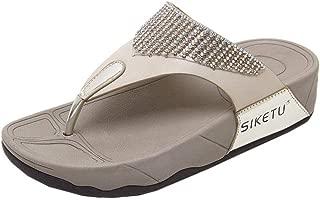 FORUU Fashion Summer New Sandals Womens Shoes Bohemian Wedge Flops Beach Sandals