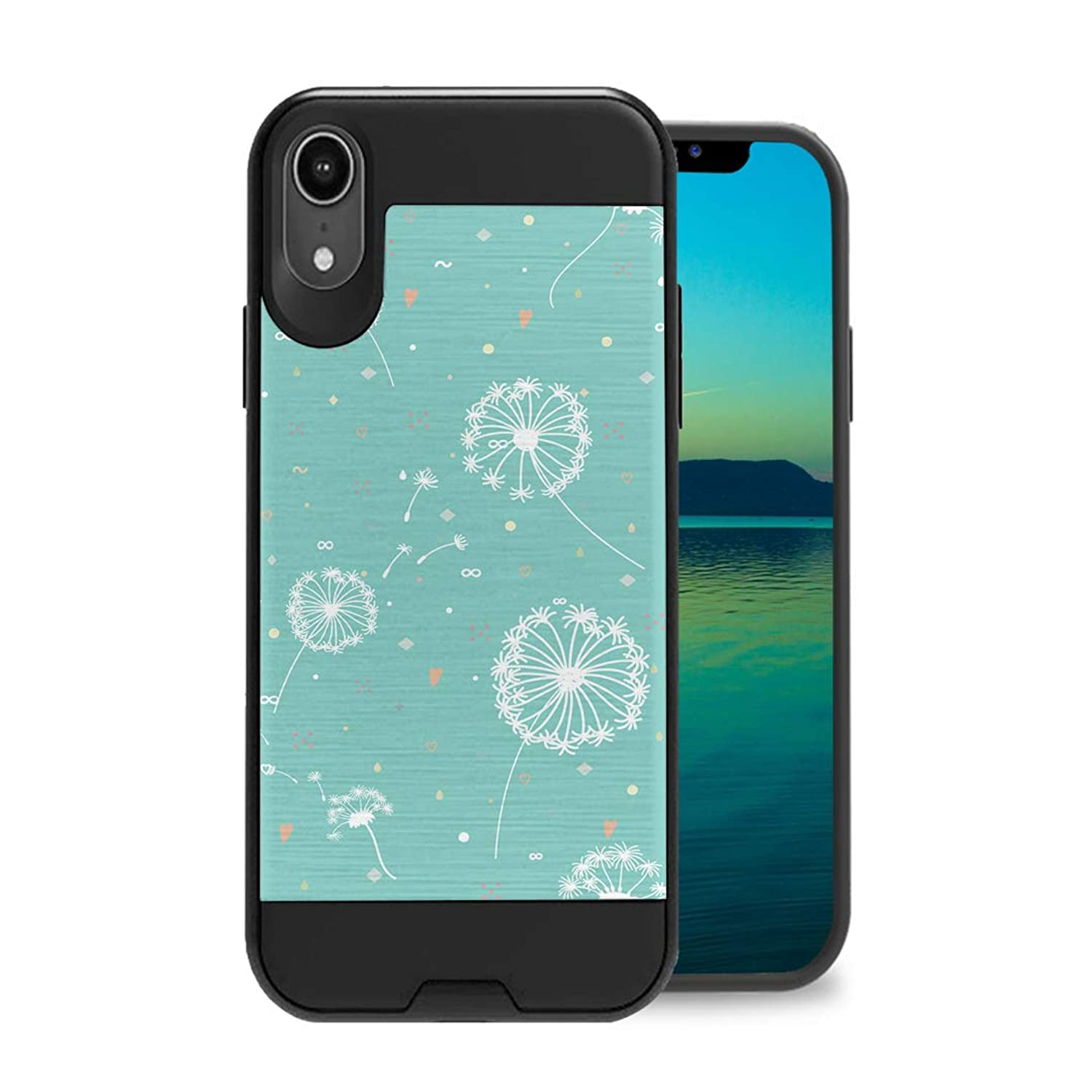 Zicomaxcap Case Compatible with iPhone Xs Max [Hybrid Fusion Supports Qi Wireless Charging Dual Layer Slick Armor Case Black] for iPhone Xs Max - (Dandelion)