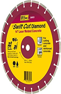 IVY Classic 38003 Swift Cut 14-Inch Dry and Wet Cutting Laser Welded Concrete Diamond Blade with 1-Inch - 20mm Arbor, 1/Card