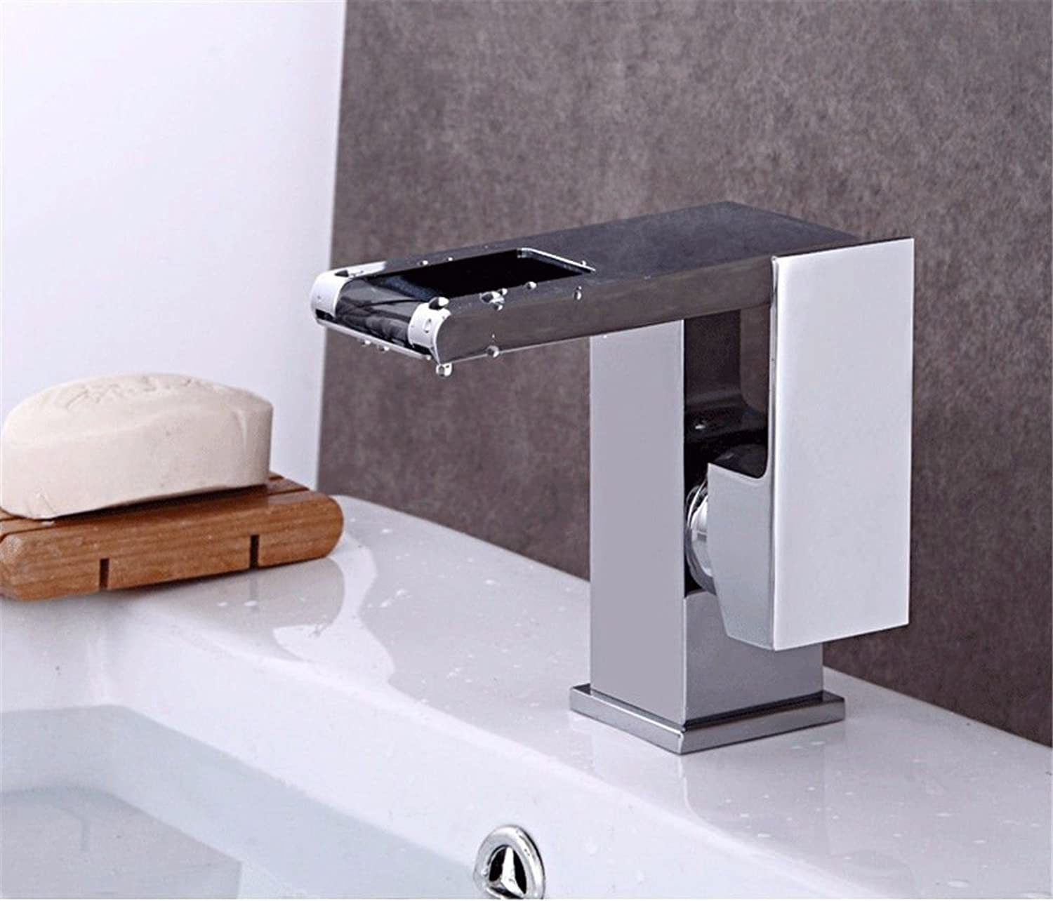 Hlluya Professional Sink Mixer Tap Kitchen Faucet Stainless Steel Basin waterfall of hot and cold water washing your face hand basin basin Mixer Taps