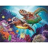 Mikolot Full Diamond Painting DIY 5D Turtles Sea Embroidery Cross Stitch Mosaic Kit