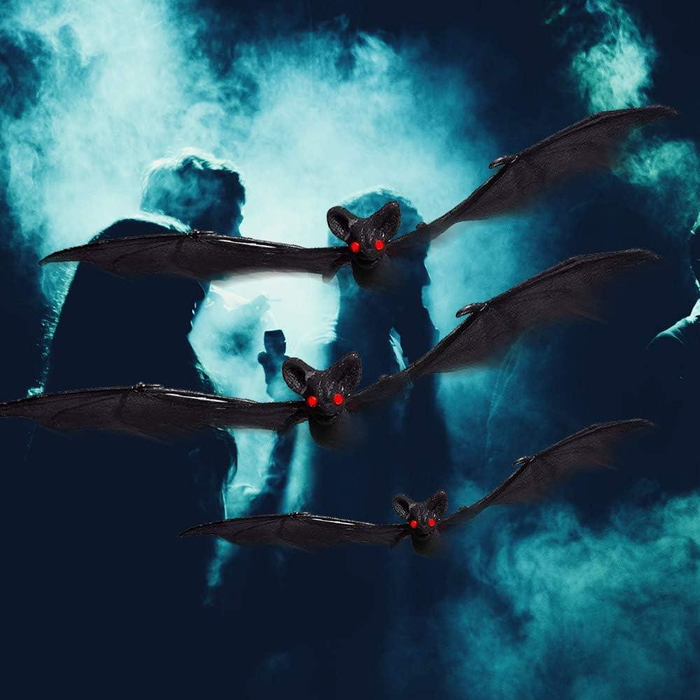 LEAMER Halloween murci/élagos colgante murci/élagos murci/élagos decoraci/ón realista mesa de fantasma colgante murci/élago de goma para mejor decoraci/ón de Halloween