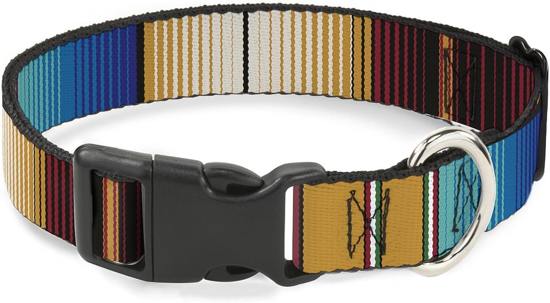BuckleDown BACW32633NM Breakaway Cat Collar, 1 2  WideFits 812  NeckMedium, Zarape
