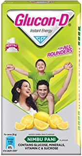 GLUCON D, Nimbu Pani flavoured Glucose Based Beverage Mix - 1 Kg Carton