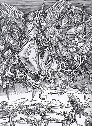 226 Albrecht d RER Slag bij Saint Michael met de draak 1498 - Film Film Poster - Beste Print Kunst Reproductie Kwaliteit Wanddecoratie Gift Canvas A1