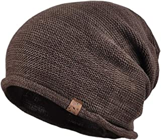 Cotton Knitting Caps and Hats with Gift Box Mens Winter Warm Knit Caps and Hats Earmuffs Caps and Hats for Driving Snow Outdoor Sports (Color : Coffee)