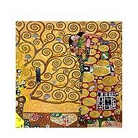 グスタフクリムトによるフルフィルメントキャンバスアートポスターとプリントの複製油絵リビングルーム60x60cmフレームレスのスカンジナビアの壁の写真