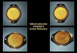 TACOM 4 EA - Reflectors - Amber ; Hummer M998 Humvee ; 12342500-2 9905-01-485-2102