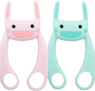 サポうさ 2個セット(ピンク&グリーン) HELP MY MOMヘルプマイマム 離乳食 仕上げ磨き 育児グッズ