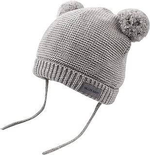 XIAOHAWANG Baby Knit Hat Boys Cute Pompom Ears Kids Winter Caps Girls Toddler Earflap Beanies
