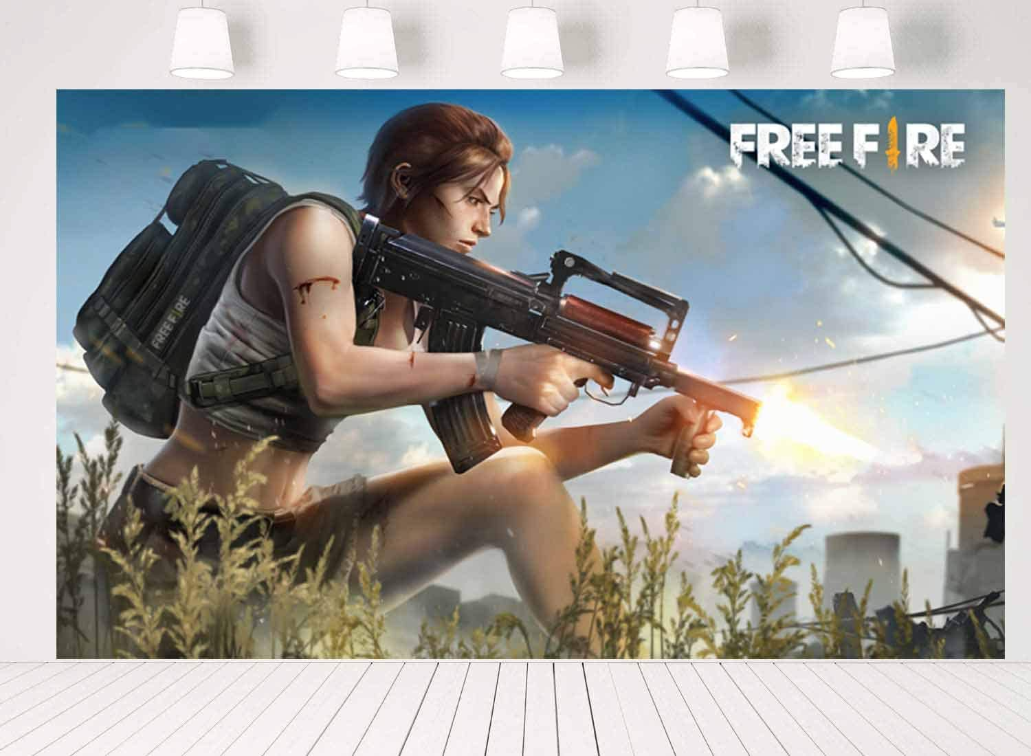 Free Fire Party Supplies Battle Poster Royale Gam Backdrop Video Soldering New Shipping