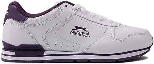 Officiel Chaussures Chaussures Slazenger Classic paniers pour femme Blanc violet Sports paniers paniers  vente discount en ligne