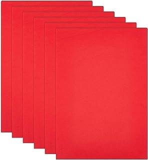 BENECREAT 10 STKS Zelfklevende Foam Vel Rood Antislip EVA Foam Pad Mat met Zelfklevende Rug voor Meubels Deuren 30x21x0.1cm