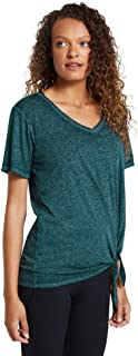 Rockwear Activewear Women's V Neck Tie Tee Dark Teal 14 from Size 4-18 for T-Shirt Tops