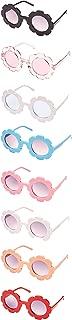 8 Pieces Kids Sunglasses Cute Round Sunglasses Flower...