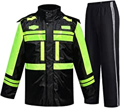 AZZ Hi VIS Viz High Visibility Bomber Jacket Workwear Safety Security Concealed Hood Fluorescent Flashing Hooded Padded Waterproof Work Wear Coat L-3XL (Size : L)