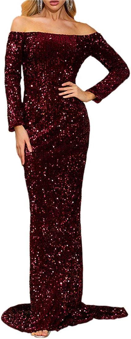 V A Women Off 2021 autumn and winter new Shoulder High order Strapless Long Backless Leng Floor Sleeve